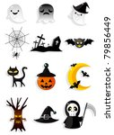 halloween icons | Shutterstock .eps vector #79856449