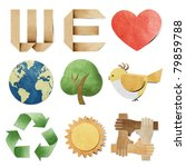 we love tag recycled paper...   Shutterstock . vector #79859788