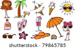 set beach pictures | Shutterstock .eps vector #79865785