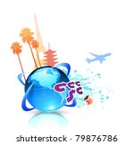 vector illustration of  funky... | Shutterstock .eps vector #79876786