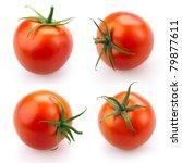 Tomato Set Isolated On White...