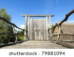 old wooden entrance gate | Shutterstock . vector #79881094