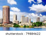 Cairo, seafront of Nile River.  Egypt. - stock photo