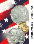 three faces of liberty  stars... | Shutterstock . vector #79898755