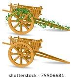 Vintage Wooden Cart  Detailed...
