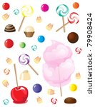 a selection of sweets and... | Shutterstock . vector #79908424