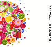 background with floral and... | Shutterstock . vector #79913713