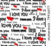 seamlessly wallpaper valentine... | Shutterstock . vector #79916977