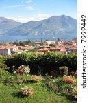 View to Menaggio and famous Italian lake Como - stock photo