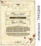 a blank halloween invitation... | Shutterstock .eps vector #79931848