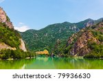 landscape of olt valley with... | Shutterstock . vector #79936630