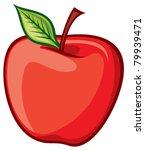 red apple   Shutterstock .eps vector #79939471