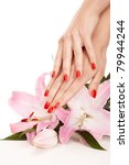 closeup image of red manicure...   Shutterstock . vector #79944244