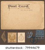 antique postcards in vector...   Shutterstock .eps vector #79944679