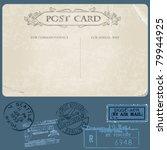 antique postcards in vector...   Shutterstock .eps vector #79944925