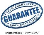 guarantee blue stamp | Shutterstock . vector #79948297
