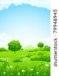 green landscape with trees... | Shutterstock .eps vector #79948945