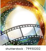 curved photographic film.... | Shutterstock . vector #79950202