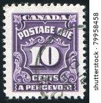 canada   circa 1950  stamp...   Shutterstock . vector #79958458