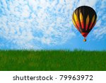 balloon with blue sky in... | Shutterstock . vector #79963972
