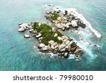 rock island  santa marta | Shutterstock . vector #79980010