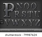 glass alphabet  part 2  | Shutterstock .eps vector #79987624