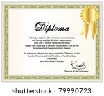 College degree free vector art 670 free downloads vintage frame certificate or diploma template with golden award ribbon vector illustration yelopaper Gallery