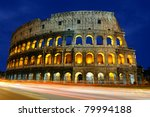 the colosseum at dusk | Shutterstock . vector #79994188