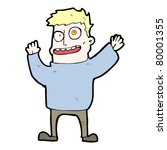 crazy man cartoon