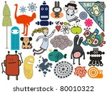 mix of different vector images. ...   Shutterstock .eps vector #80010322