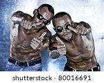 brutal beautiful mans   Shutterstock . vector #80016691