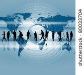 business people standing... | Shutterstock . vector #80033704