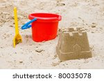 Sandcastle With Bucket And...