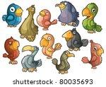 lovely colorful birds. isolated | Shutterstock .eps vector #80035693