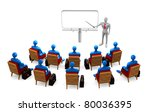 group of students and person on ... | Shutterstock . vector #80036395