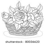 vector  wattled basket with... | Shutterstock .eps vector #80036620