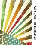 Multicolor grunge american flag. A new multicolor american background for a poster - stock vector