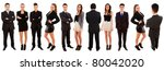 business team standing over a... | Shutterstock . vector #80042020