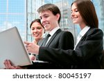 young business colleagues... | Shutterstock . vector #80045197