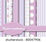 set of vector paper for... | Shutterstock .eps vector #80047906