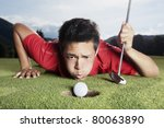 Desperate Young Male Golf...