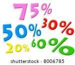 discounts percentages on a... | Shutterstock . vector #8006785