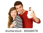 couple taking photo of... | Shutterstock . vector #80068078