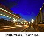 slow exposure traffic view of...   Shutterstock . vector #80095468