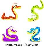 Cute Cartoon Snakes