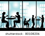 evening supper | Shutterstock . vector #80108206