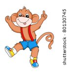 monkey that dances | Shutterstock . vector #80130745