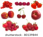 collection of red fruits | Shutterstock . vector #80139844
