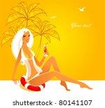 vector illustration of summer... | Shutterstock .eps vector #80141107