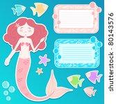 set of mermaid and design... | Shutterstock . vector #80143576
